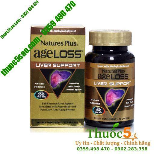 Ageloss Liver Support Nature's Plus - Chống lão hóa gan