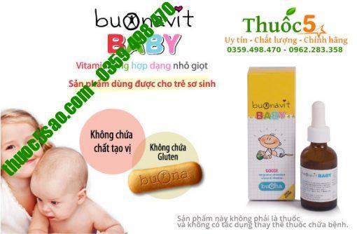 Buonavit Baby 20ml – Vitamin tổng hợp nhỏ giọt nhập khẩu Italy