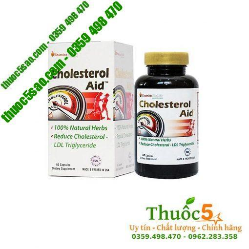 Cholesterol Aid - Viên uống giảm mỡ máu hàng Mỹ, hộp 60 viên