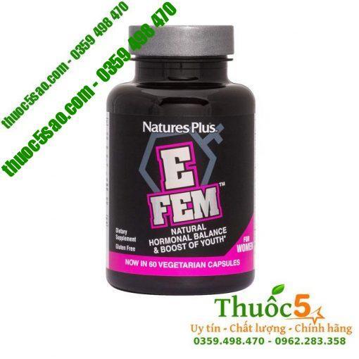 E Fem giúp tăng cường sinh lý, cân bằng hormone nữ giới