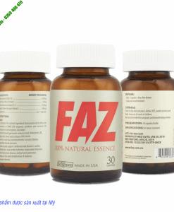 FAZ- Hỗ trợ kiểm soát tăng huyết áp và các bệnh tim mạch