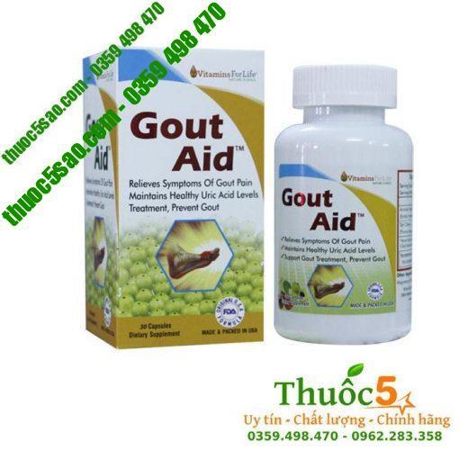 Gout Aid - Ngăn ngừa bệnh gút, đánh tan tinh thể gây đau 30 viên