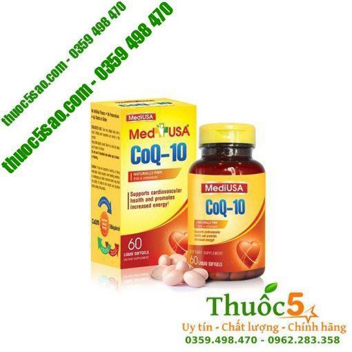 MediUSA Coenzyme Q10 - Hỗ trợ tim mạch, gan, thận, hàng USA