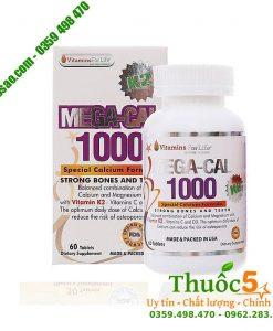 Mega Cal K2 - Cung cấp canxi, Vitamin D3 chống loãng xương
