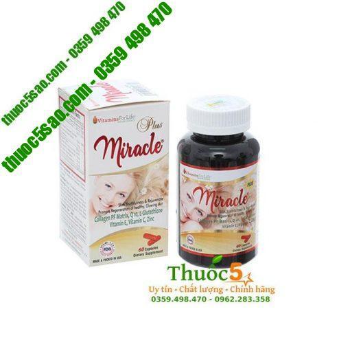 Miracle Plus - Viên uống đẹp da, làm chậm quá trình lão hóa da.
