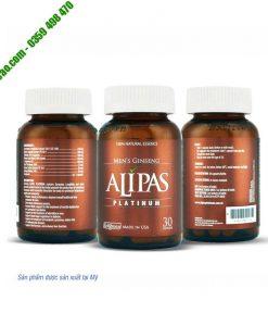 Sâm Alipas Platinum tăng cường sinh lý nam, cải thiện xuất tinh sớm