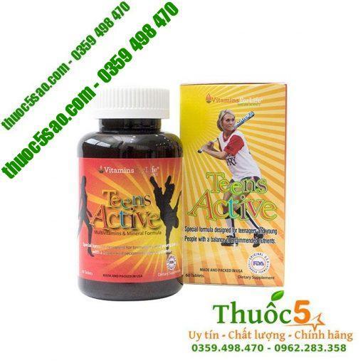 Teens Active - Bổ sung Vitamin và khoáng chất hàng ngày cho thiếu niên