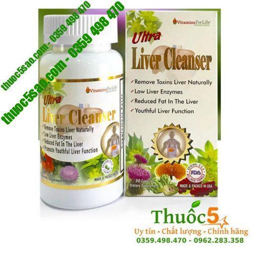 Utra Liver Cleanser - Giải độc gan, ngăn ngừa gan nhiễm mỡ
