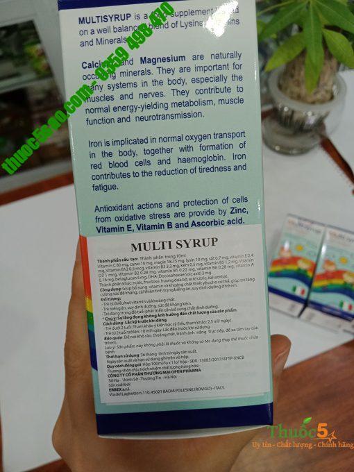 Multi syrup - Siro bổ sung Vitamin và khoáng chất thiết yếu cho cơ thể.
