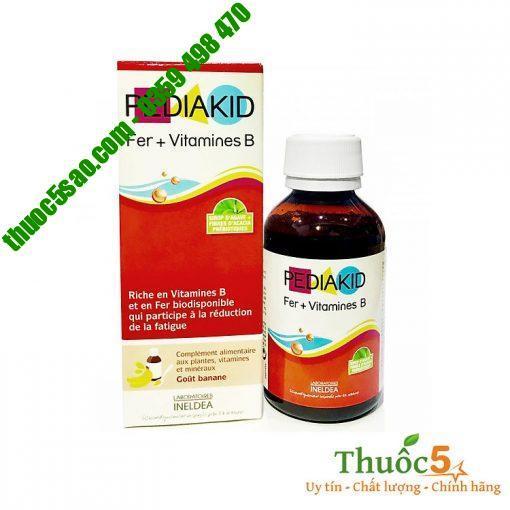 Pediakid Fer + Vitamines B tăng cường sắt và vitamin nhóm B