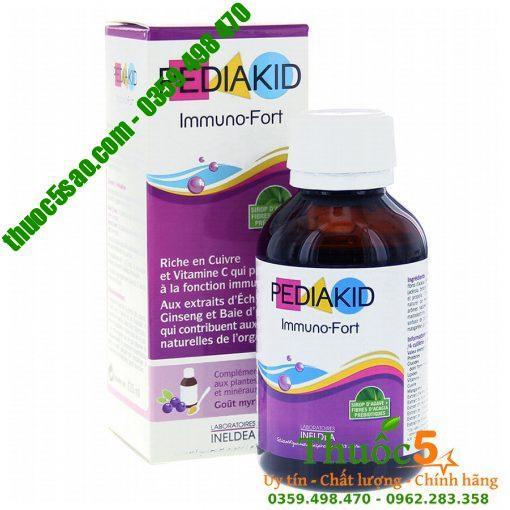 Pediakid Immuno-Fort giúp tăng cường khả năng miễn dịch hiệu quả cho bé