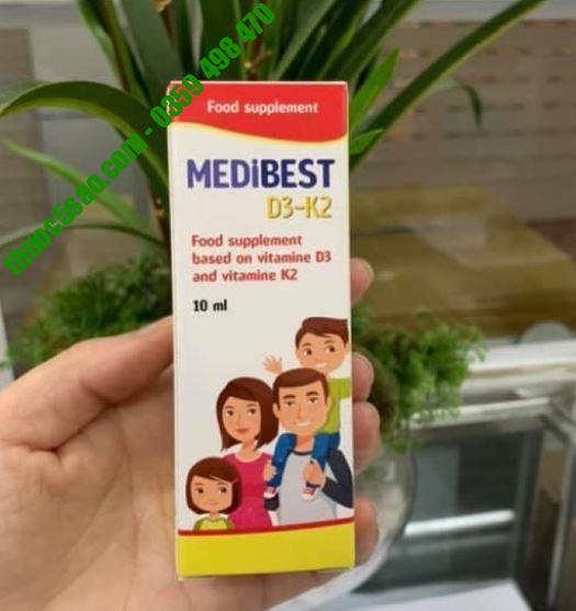 Medibest D3-K2 - Ngăn ngừa suy dinh dưỡng chiều cao ở trẻ (Dùng cho cả trẻ sơ sinh)