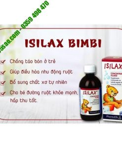 Isilax Bimbi giúp nhuận tràng, táo bón ở trẻ nhỏ