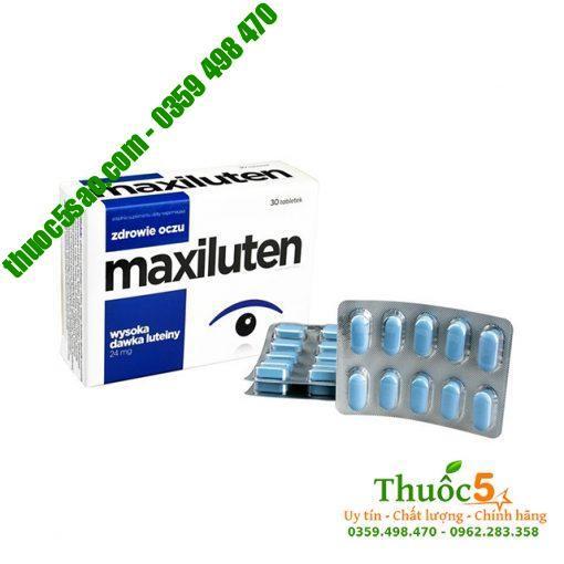 Maxiluten Viên bổ mắt Hộp 30 viên cho đôi mắt sáng khỏe