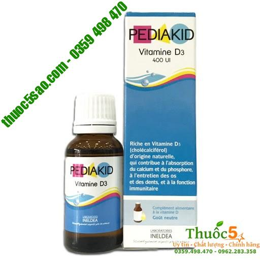 [GIÁ GỐC] Pediakid Vitamin D3 Giải pháp cho trẻ còi xương hàng Pháp
