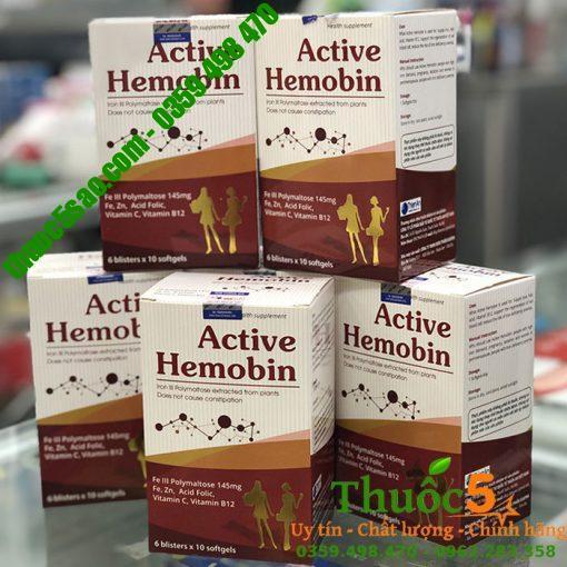 ACTIVE HEMOBIN - VITAMIN BỔ SUNG x2 SẮT, ACID FOLIC VÀ B12 CHO BÀ BẦU