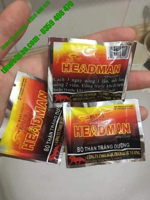 Headman chứa thành phần từ những dược liệu quý với nguồn gốc tự nhiên 100%