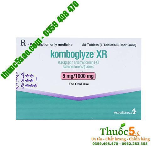 Komboglyze XR 5mg - Trị bệnh tiểu đường