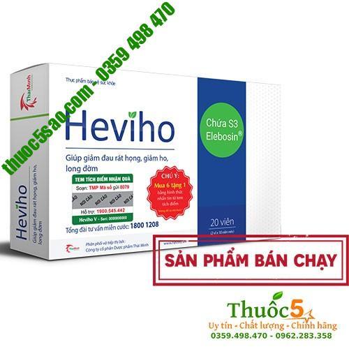 Heviho Điều trị viêm họng hạt, viêm phế quản mãn tính, viên Amidan