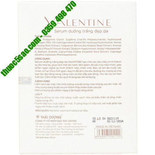 Valentine serum chống lão hóa, trắng da