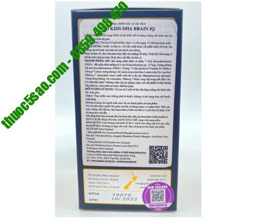 Go Kids DHA Brain IQ cung cấp DHA cho bé hộp 60 viên