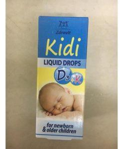 Kidi D3 K hỗ trợ điều trị còi xương cho bé lọ 30ml