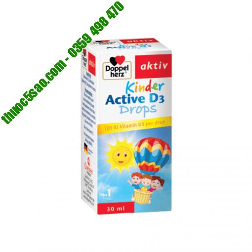 Kinder Active D3 Drops Doppelherz tăng cường chuyển hóa, hấp thu canxi cho trẻ