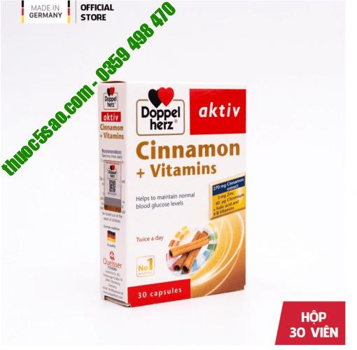 Cinnamon + Vitamin Doppelherz Aktiv hộp 30 viên