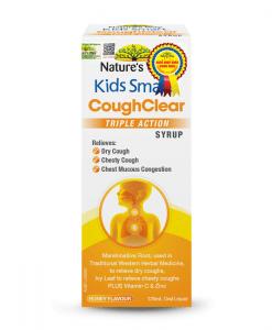 Kids smart coughclear Triple action Syrup hỗ trợ hô hấp cho bé lọ 120ml