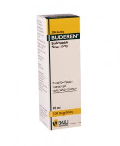 Buderen spray 10ml hỗ trợ viêm mũi dị ứng chai 100ml