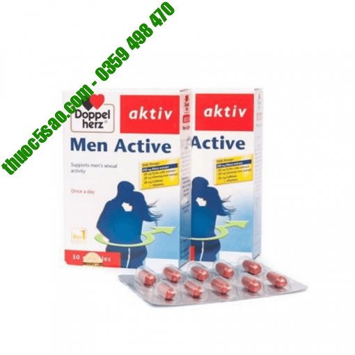 Men Active Doppelherz Aktiv sinh lí nam hộp 30 viên