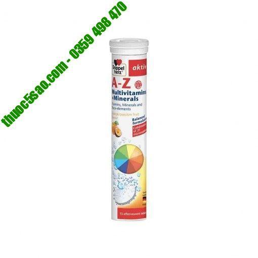 A-Z Fizz bổ sung vitamin, khoáng chất tuýp 13 viên sủi