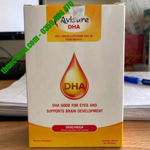 Avisure DHA bổ sung DHA, EPA cho bà bầu hộp 4 vỉ x 10 viên