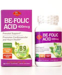 Be Folic Acid 400mcg vitamin cho bà bầu hộp 100 viên