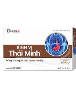 Bình Vị Thái Minh hỗ trợ điều trị dạ dày hộp 20 viên