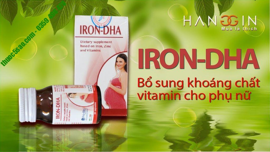 Iron DHA bổ sung sắt, vitamin cho bà bầu