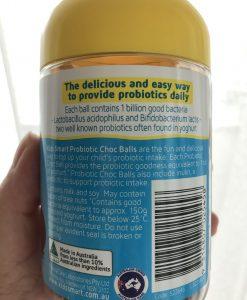 Kids Smart Probiotic Choc Balls Bổ sung lợi khuẩn cho đường ruột của bé lọ 50 viên kẹo socola nhai