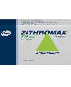 Zitromax 500mg hỗ trợ điều trị nhiễm khuẩn hộp 3 viên