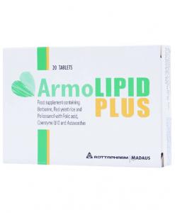 Armolipid Plus hạ mỡ máu, bảo vệ tim mạch hộp 20 viên
