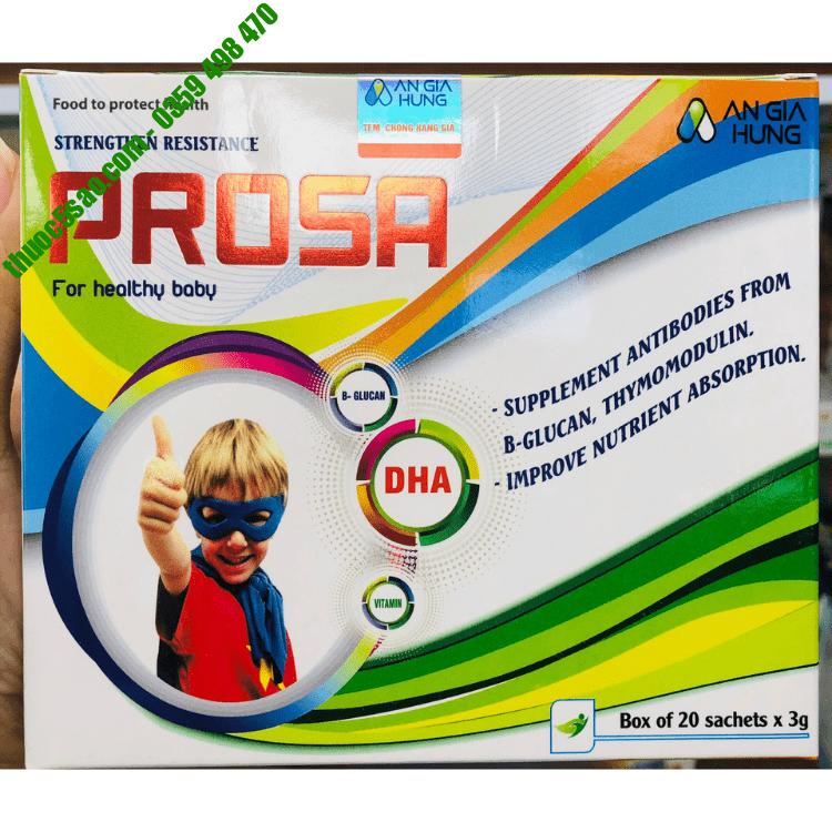 Cốm tăng sức đề kháng Prosa cho bé