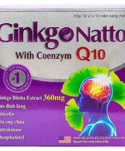 Ginkgo Natto Coenzym Q10 tăng cường tuần hoàn não