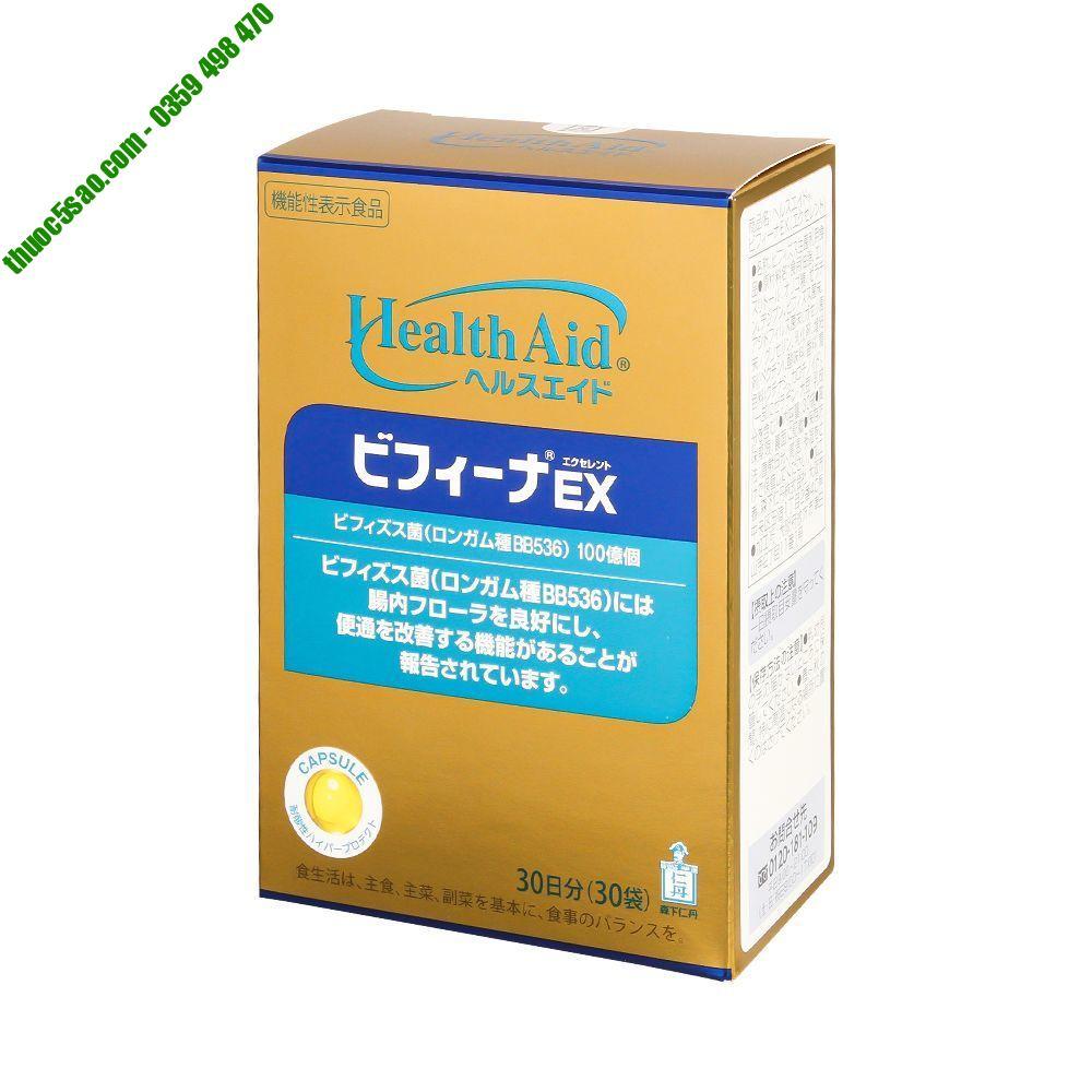 Bifina Ex điều trị và ngừa rối loạn tiêu hóa hộp 30 gói