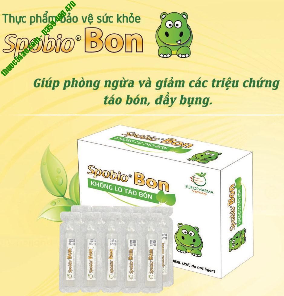 Spobio Bon cải thiện hệ vi sinh đường ruột hộp 10 ống