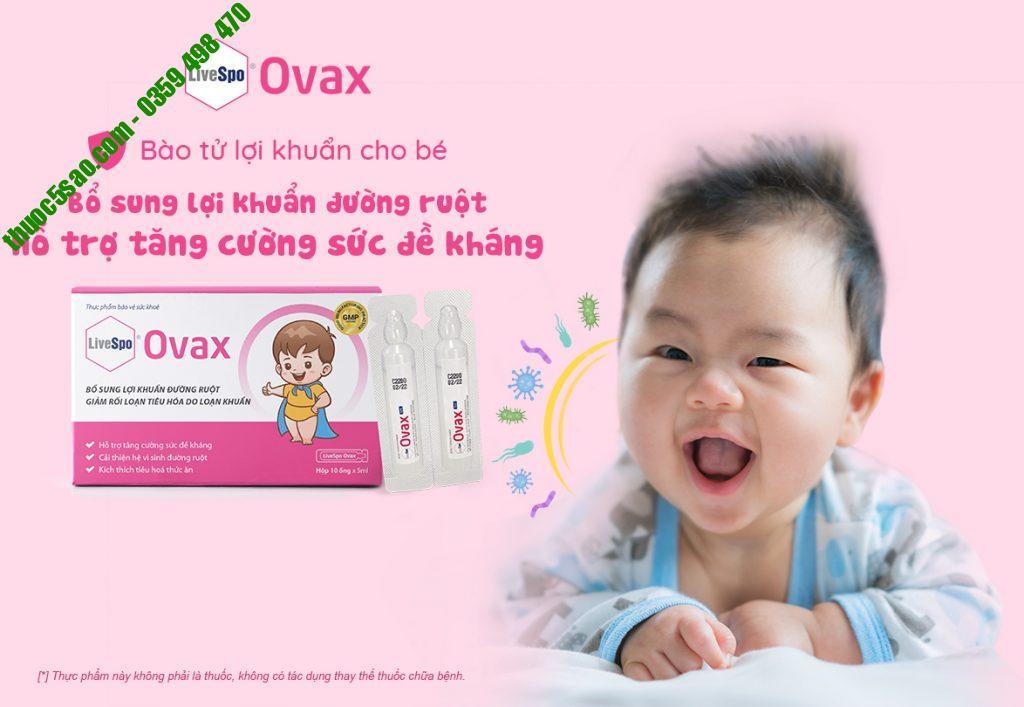 LiveSpo Ovax bổ sung lợi khuẩn đường ruột hộp 10 ống