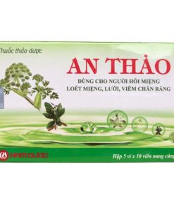 An Thảo hỗ trợ điều trị nhiệt miệng hộp 50 viên