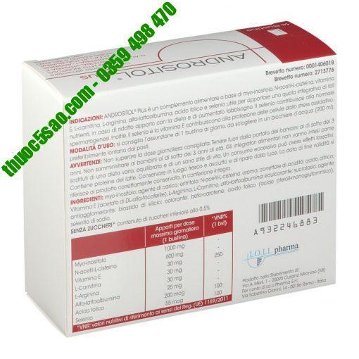 [GIÁ GỐC] ANDROSITOL PLUS giúp cải thiện tinh trùng hộp 14 gói
