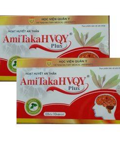 AmiTakaHVQY Plus hoạt huyết, bổ não hộp 30 viên