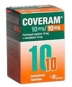 Coveram 10mg/10mg hỗ trợ điều trị động mạch vành lọ 30 viên