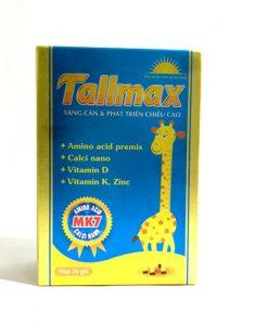 Tallmax hỗ trợ phát triển chiều cao hộp 20 gói