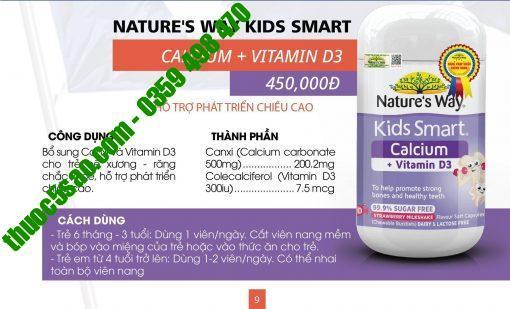 Kids Smart Calcium + Vitamin D3 Burstlets bổ sung D3, canxi lọ 50 viên